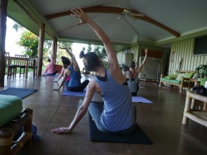 Morning Yoga on the Lanai