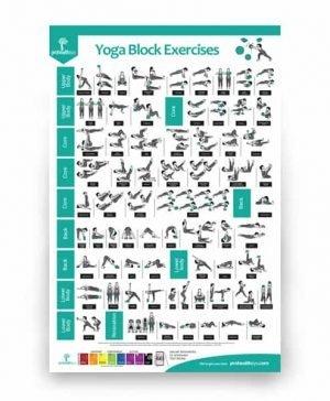Yoga Block Exercises Poster