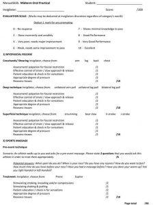 Massage Skills Midterm Exam