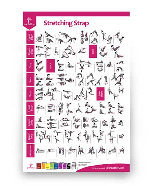 Stretching Strap Exercises Poster