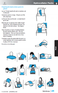 Hydrotherapy sample page