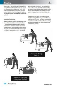 Massage Therapy Ebook sample pages