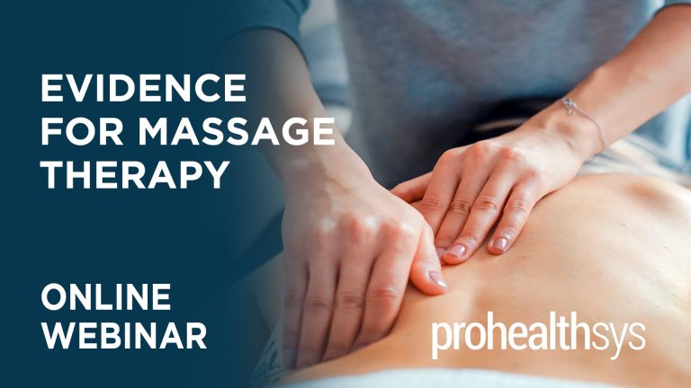 Evidence for Massage Therapy