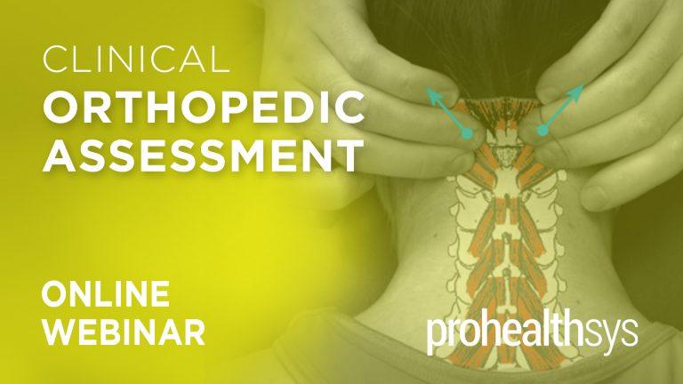 Clinical Orthopedic Assessment Online Webinar