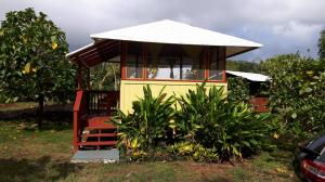 An example of one of the bungalows for accommodations