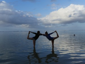 Dr. Land and RMT, Emily Costa in Dancer's Pose